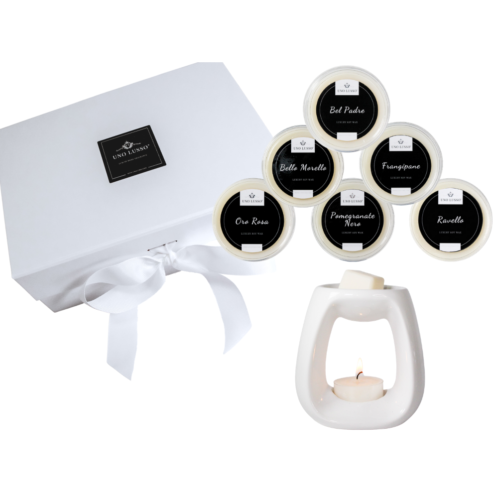 Luxury Gift Box with wax melts and luxury wax burner