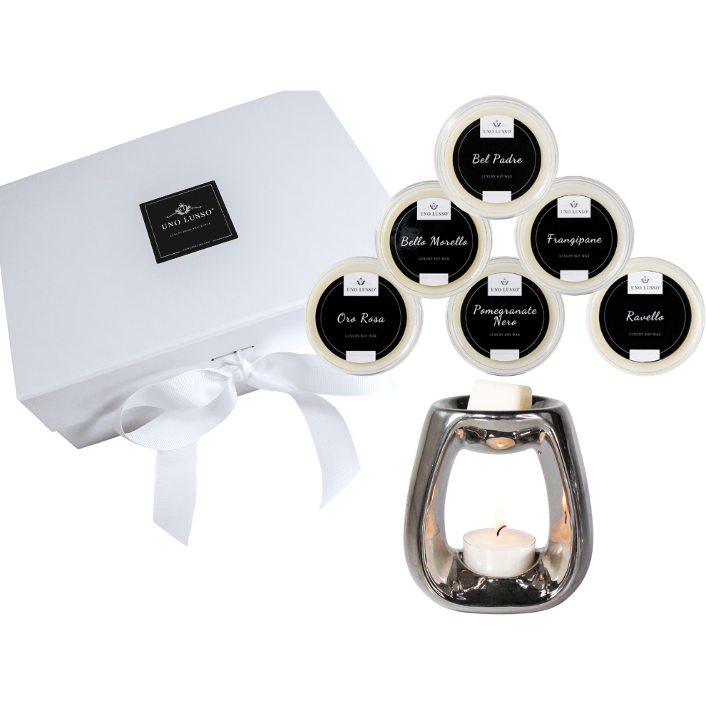 Luxury Gift box with wax melts and wax burner