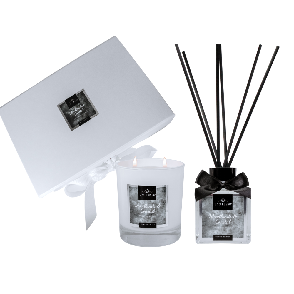 Enchanted Forest Luxury Candle & Diffuser Gift set with gift box