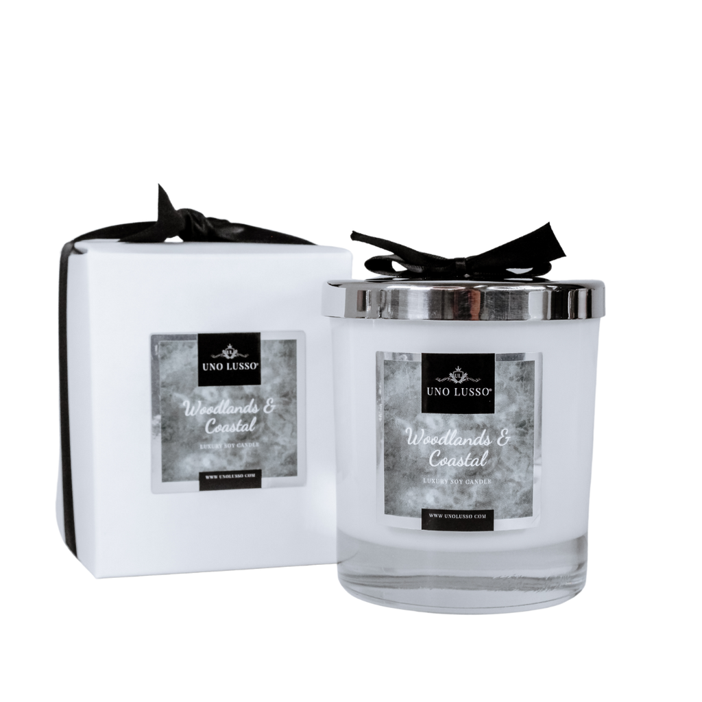 Enchanted Forest Luxury Soy Candle By Uno Lusso