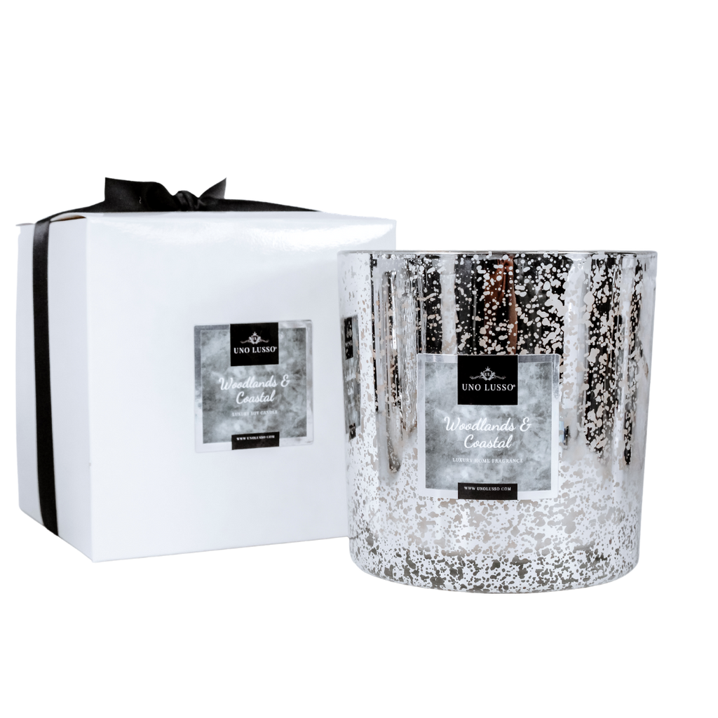 Enchanted Forest Metallic Grande Candle by Uno Lusso