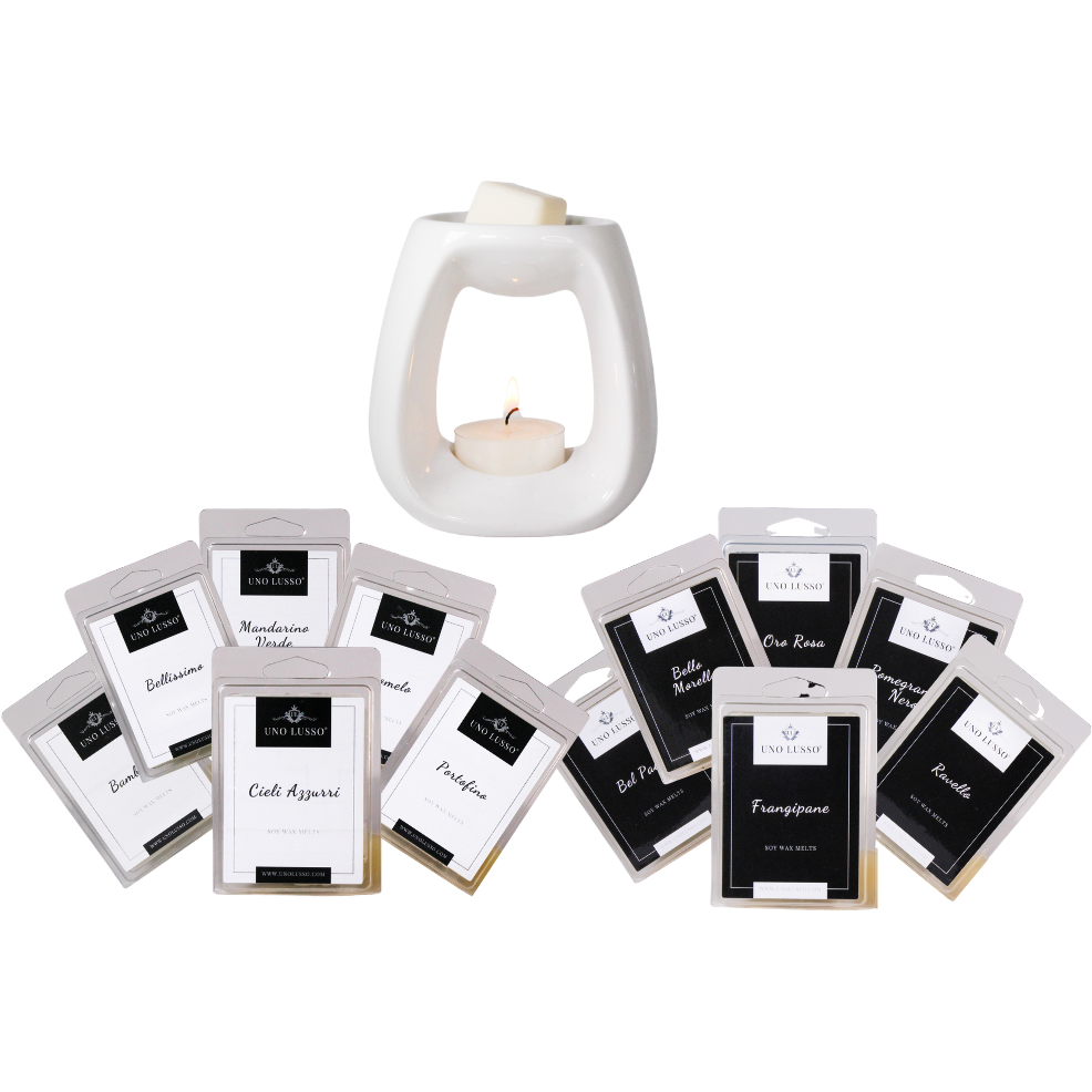 Signature Collection Wax Melt Clamshell bundle with Gloss White Wax Burner