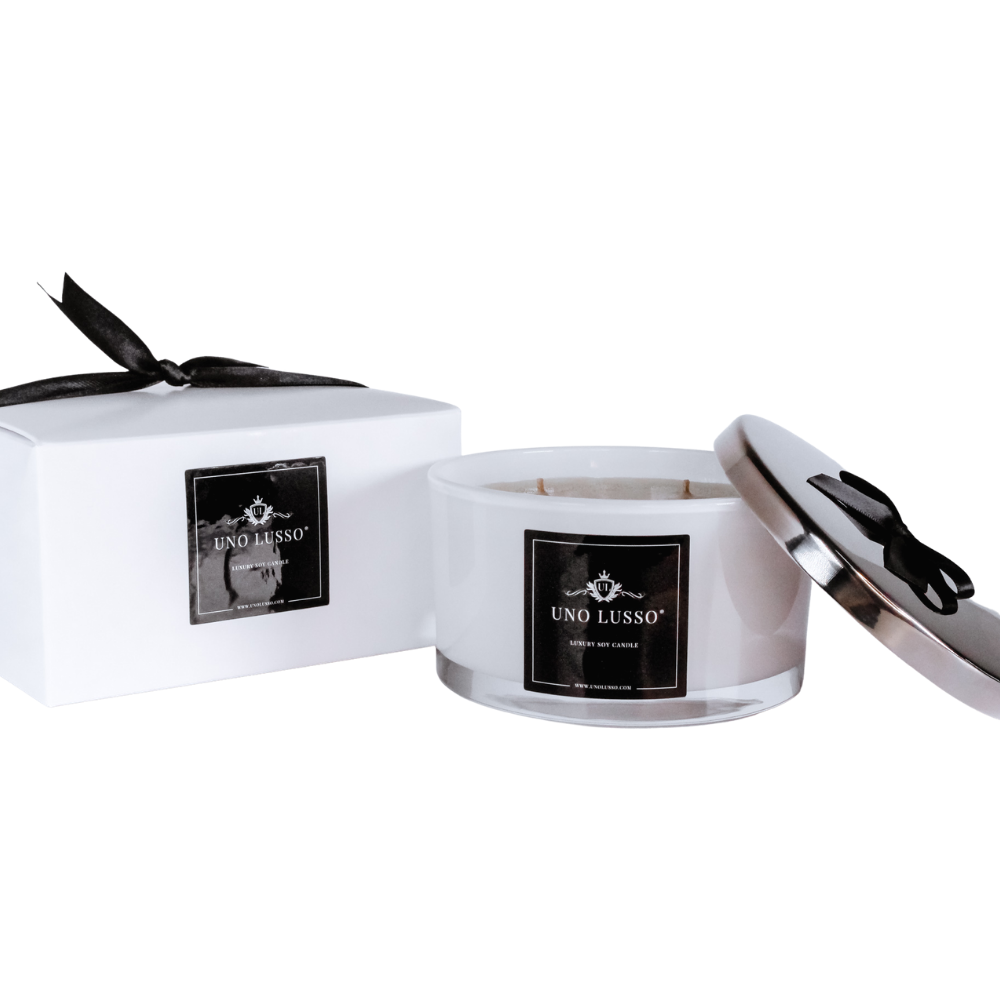Frangipane White Gloss CAndle with lid