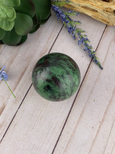 Load image into Gallery viewer, Ruby Zoisite Sphere | Crystal Sphere | Zoisite Crystal Ball | Crystals Rocks Stones & Minerals