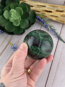 Ruby Zoisite Sphere | Crystal Sphere | Zoisite Crystal Ball | Crystals Rocks Stones & Minerals