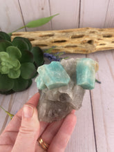 Load image into Gallery viewer, Raw Amazonite in Quartz | Amazonite Mineral Specimen | Crystals Stones Rocks & Minerals
