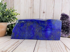 Lapis Lazuli Crystal Slab Freeform | Over 6 Pounds!!
