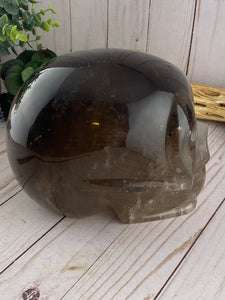 Smoky Quartz Skull | 14 pounds!!! Huge Quartz Crystal Skull
