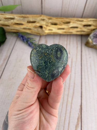 Kambaba Jasper Heart | Polished Jasper Crystal