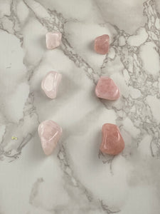 Rose Quartz Tumbled Stone (1) | Multiple Options Available
