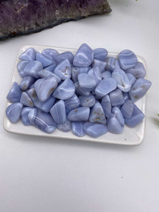 Blue Lace Agate Mini Tumbled Stone (1)