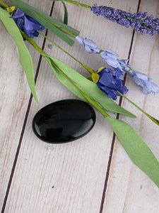 Black Obsidian Palm Stone