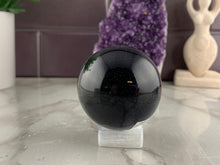 Load image into Gallery viewer, Selenite Sphere Stand
