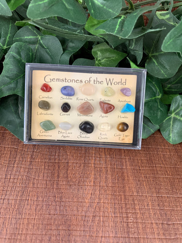 Gemstones from around the world collection box