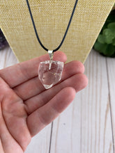 Load image into Gallery viewer, Clear Quartz Crystal Necklace