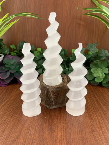 Selenite Horn | Selenite Tower Crystal | Crystals & Minerals & Rocks