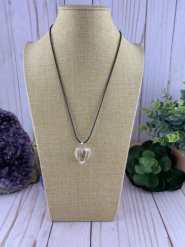 Clear Quartz Crystal Necklace