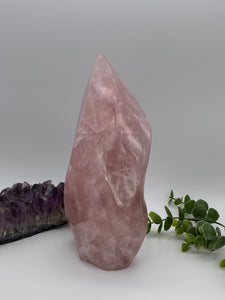 Rose Quartz Flame | Rose Quartz Crystal | Crystal Tower | Quartz Crystals