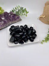 Load image into Gallery viewer, Black Obsidian Tumbled Stone (1)