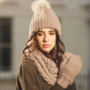 Elle Snood and Mittens using Rowan Yarns Designed by Quail Studio Essential Accessories