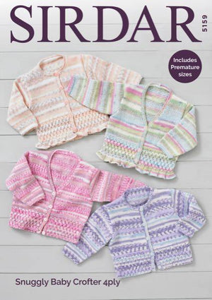 An Array of 4 ply patterns by Sirdar, Knitted in Sirdar Crofter Snuggly 4 ply