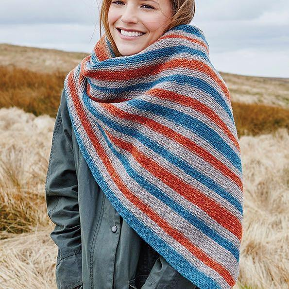 Bradfield Scarf - From The Valley Tweed Book by Rowan - emmshaberdasheryshop
