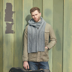 Hudson Scarf Rowan Journey Man Knitting Pattern Book