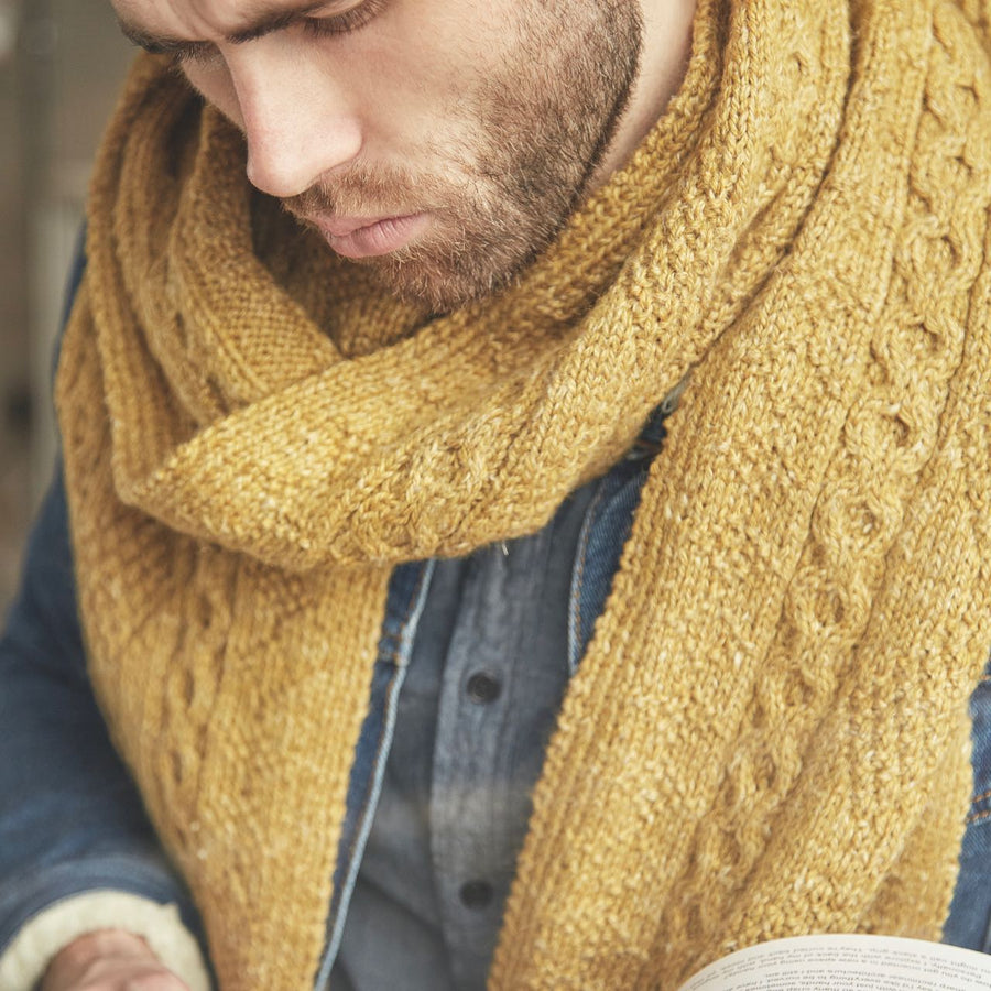 Newman Scarf Rowan Journey Man Knitting Pattern Book