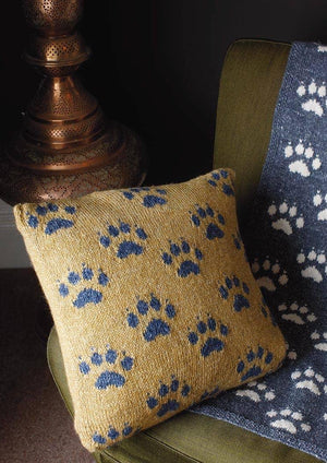 Paws for thought Cushion - From the Rowan at Home Book by Martin Storey - emmshaberdasheryshop