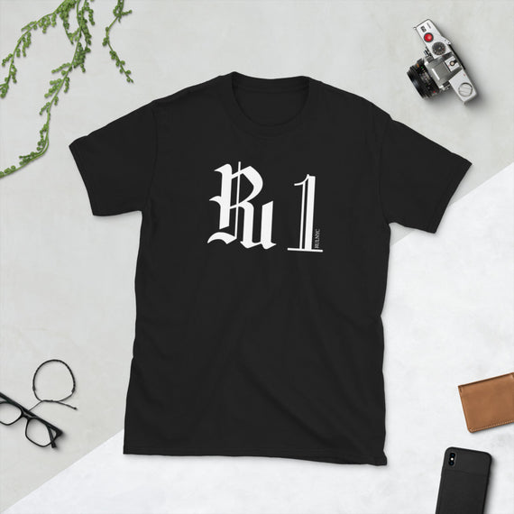 Ru1 BRAND Short-Sleeve Unisex T-Shirt - BLACK, NAVY & GRAY