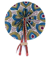 Load image into Gallery viewer, African Print Circle Folding Fan