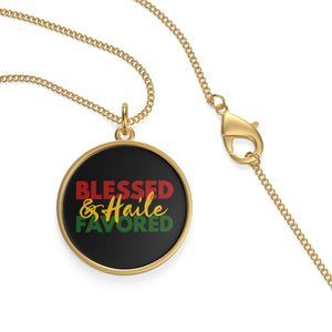 Blessed and Haile Favored Single Loop Necklace