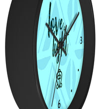 Load image into Gallery viewer, Blue Love & Light Wall clock