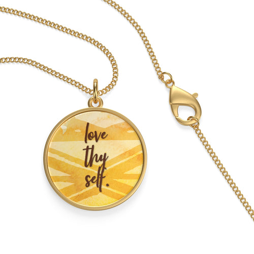 Love Thy Self Single Loop Necklace