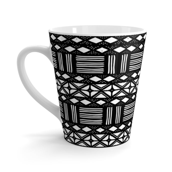African Print Latte mug | Mud Cloth Print Home Decor | Dining Coffee Cup