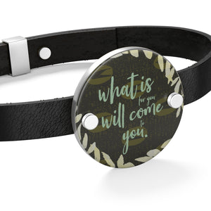 Come to You Leather Bracelet