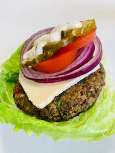Nutty Burger with Almond Cheeze