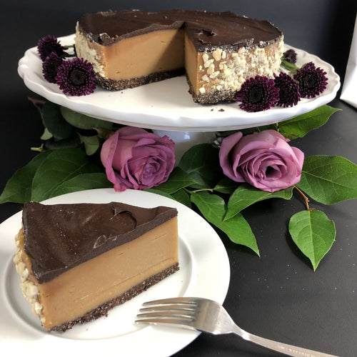 Chocolate Peanut Butter Torte - slice