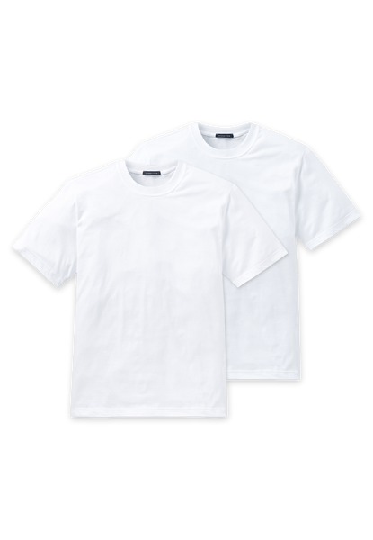 Schiesser - American T-Shirt - Ronde hals - Duo pack 008150 - Wit