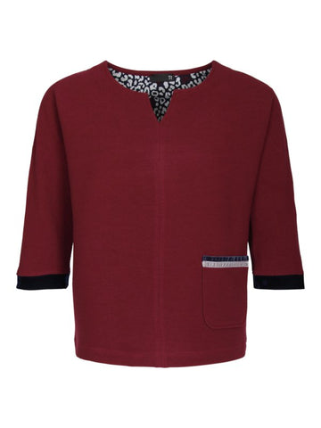 Rabe - Tuniektop l/m- Bordeaux/navy