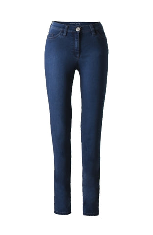 Michèle - Broek Magic - Jeans - Black Blue - Korte lengte