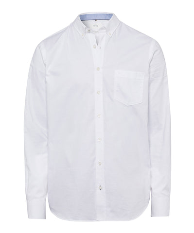 Brax - Overhemd button-down - Dries - Wit