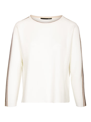 Le Comte - Pullover - ronde hals - Off-white met bies
