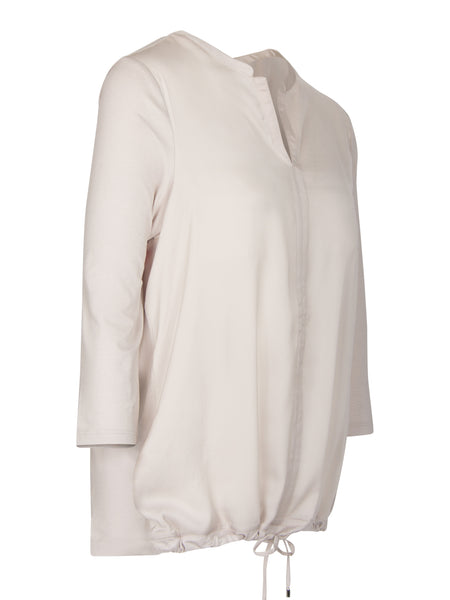 Le Comte - Blouse/tuniek in satijn beige
