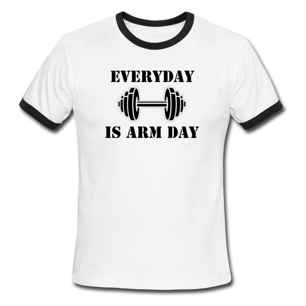 Men's Arm Day Ringer T-Shirt - DropSetFit