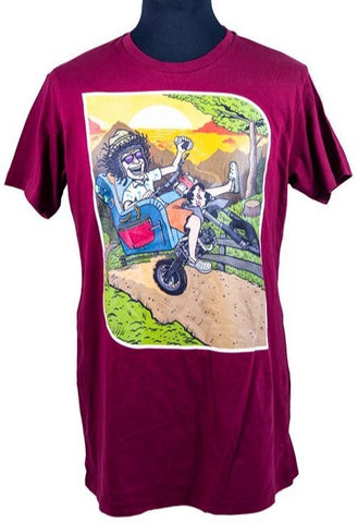 SFT Summer Moped T-Shirt Burgundy