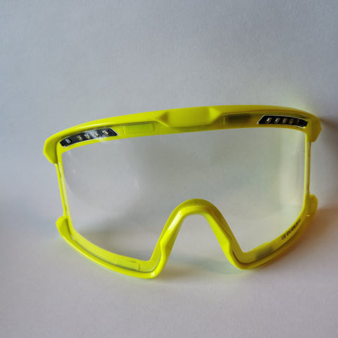 SFT RACE YELLOW GOGGLES, MAGNETIC LENS, CLEAR