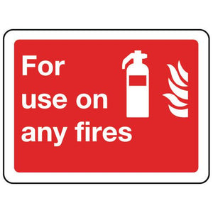 Sign For Use On Any Fires 200x150 Aluminium