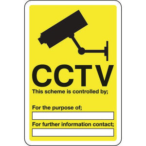 Sign Cctv This Scheme Is Controlled 200x300 Aluminium
