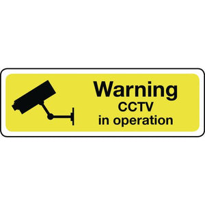 Warning Cctv Aluminium 300x100